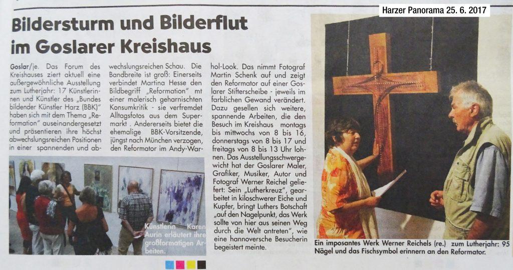"""Zeitungsartikel: """"Bildersturm und Bilderflut im Goslarer Kreishaus""""."""