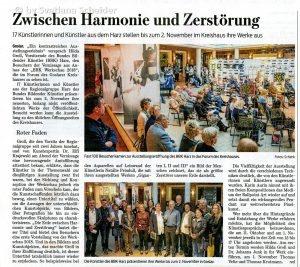 Zeitungsartikel aus Goslarsche Zeitung vom 02.10.2018