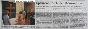 Zeitungsartikel aus Goslarsche Zeitung vom 26.06.2017.