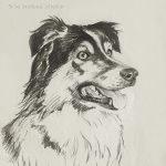 """Nr.01 """"Hund"""", 30 x 40 cm, Kohlestift auf Malpapier, 2004"""