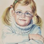"Nr.101 ""Portrait eines Mädchens"", Aquarell"