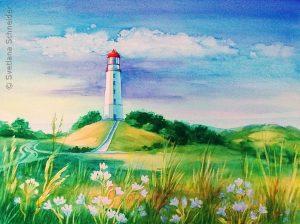 "Nr. 104 ""Leuchtturm"", Aquarell"