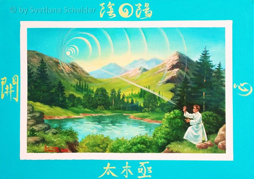 "Nr.113 ""Tai Chi die Energie des Lebens"", Ölgemälde"