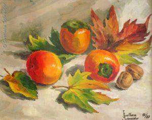 "Nr.128 ""Herbst Etüde"", Öl auf Malkarton"