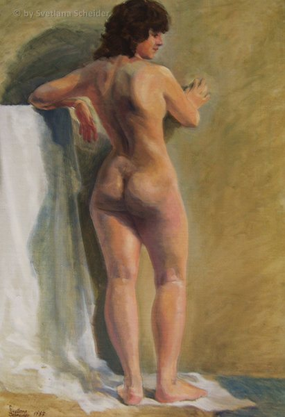 Nr.127 Akt-Studie, Größe: 55 x 80 cm, Ölgemälde, Jahr: 1987