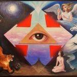 "Nr.129 ""Das Allwissende & All-sehende Gottesauge"" (Serie: Genesis)"