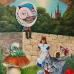 "Nr.130 ""Alice In Wunderland"", Ölgemälde"
