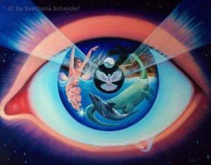 """Nr.136 """"Nach Gottes Plan & Wille"""" (Serie: Genesis), Ölgemälde"""