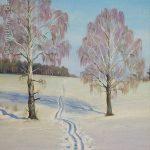 "Nr.137 ""Winter Landschaft"", Ölgemälde"
