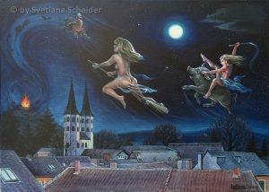 """Nr.148 """"Hexenflug zum Brocken"""" (Serie: Hexen spuk)"""