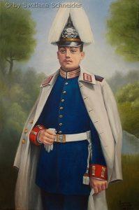 """Nr.163 """"Offizier der 1. Garde Regiments zu Fuß"""", Ölgemälde"""