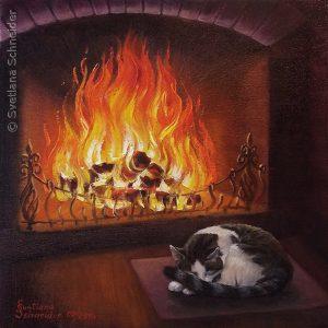 "Nr.167 ""Feuer"" (Serie: Elemente), Ölgemälde"