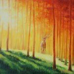 "Nr.186 ""Rotes Wald"", Ölgemälde"