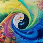 """Nr.199 """"Harmonie der Gegensätze oder das ewige Kreislauf der Natur"""", Ölgemälde, Größe: 120 x 80 cm, Entstehungsjahr: 2016"""