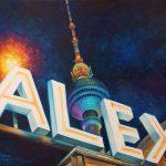 """Nr. 202 """"Alexanderplatz & Fernsehturm Im Berlin"""", Ölgemälde, Größe: 50 x 40 cm, Entstehungsjahr: 2016"""