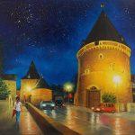 """Nr. 204 """"Frische Der Nacht"""" (Goslar, Breites Tor), Ölgemälde"""