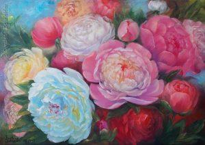 """Nr.213 ´""""Blütenpracht Im Farbenrausch"""", Ölgemälde"""