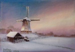 """Nr.216 """"Windmülle Im Winter"""""""