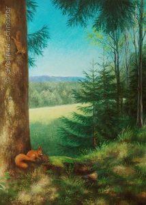 "Nr.220 ""Sommer Im Harz"", Ölgemälde"