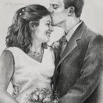 """Nr.22 """"Hochzeit"""", Kohlestift auf Malpapier, 30 x 40 cm, 2002"""
