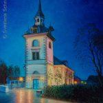 """Nr.220 """"Martin Luther Kirche In Ober Oker"""", Ölgemälde"""