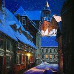 """Nr.229 """"Goslar Im Adventsstimmung"""" Ölgemälde"""