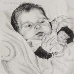"""Nr.24 """"Baby"""", Kohlestift auf Malpapier, 30 x 40 cm, 2008"""