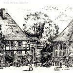 """Nr.56 """"Wöltingerode, Erntendankfest"""", 40 x 30 cm, Feder und Tusche, 2000"""