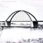 """Nr.57 """"Brücke"""", 40 x 30 cm, Feder und Tusche, 2005"""
