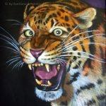 "Nr.62 ""Jaguar"", 54 x 40 cm, Pastell auf Farbkarton, 1999"