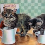 """Nr.71 """"Zwei Kätzchen"""", 40 x 30 cm, Pastell Auf Velourpapier, 2005"""