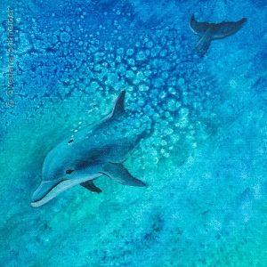"""Nr.90 """"Delphin"""", Gemälde Acryl auf Leinwand"""