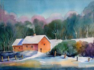 "Nr.94 ""Winter"", Aquarell"