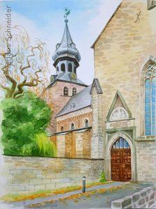 "Nr. 98 ""Frankenberger Kirche"", Aquarell"