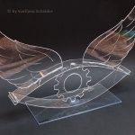 """""""Interaktion zwischen Kunst und Wirtschaft"""", Objekt aus Plexiglas, Masse: 43/25/15 cm. Das Objekt wurde erschafen für den Wettbewerb """"KulturKontakte-Preis"""" 2017"""