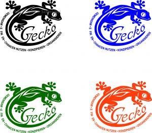 """Logo """"GECKO"""" in 4 Varianten"""