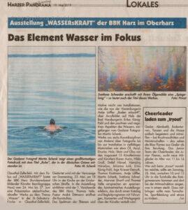 """Zeitungsartikel: Ausstellung """"WASSERsKRAFT"""" der BBK im Oberharz"""