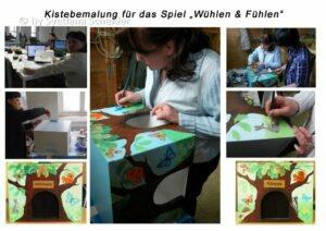 """Kistebemalung für das Spiel """"Wühlen & Fühlen"""""""