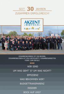 Imagebroschüre AKZENT Hotels - 30er Jubiläum, Titelseite