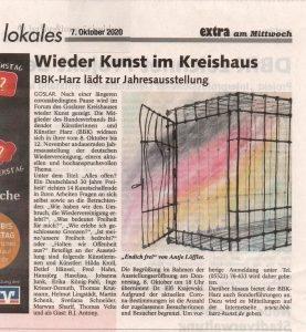 """Bericht aus der Zeitung """"Extra am Mittwoch"""", vom 07.10.2020"""