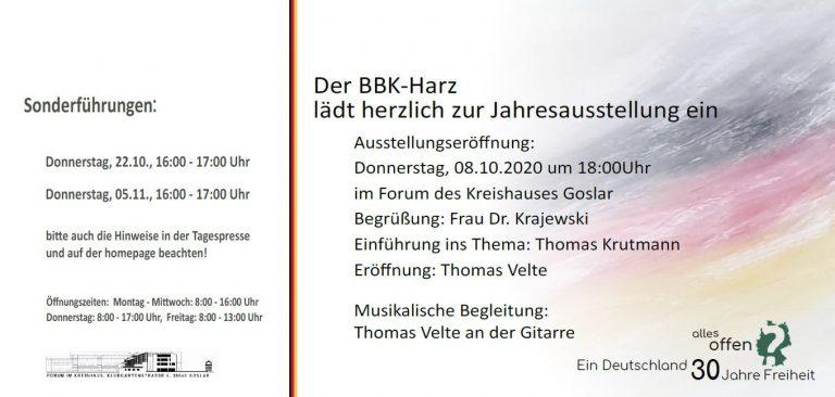 """Vernissage """"Ein Deutschland 30 Jahre Freiheit"""""""