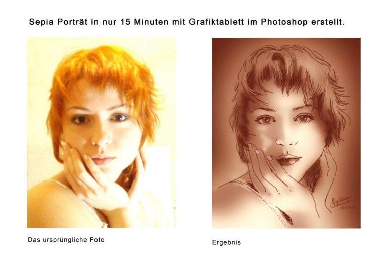 Sepia Porträt dgtArt